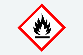 OSHA GHS Flammable label