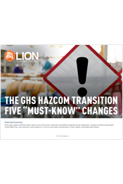 "The GHS HazCom Transition Five ""Must Know"" Changes"
