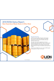 2018 RCRA Status Report: New Hazardous Waste Rules