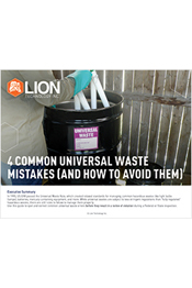 4 Common Universal Waste Mistakes