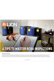 4 Tips to Master RCRA Inspections
