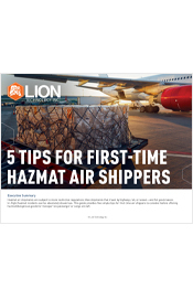 5 Tips for First-Time Hazmat Air Shippers