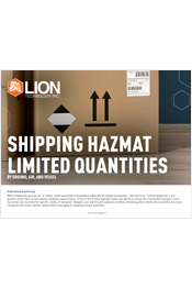 Shipping Hazmat Limited Quantities