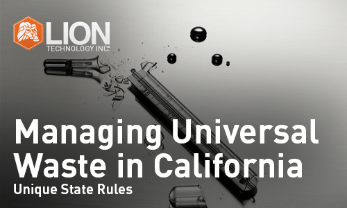 Managing Universal Waste In California