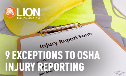 9 Exceptions to OSHA Injury Reporting
