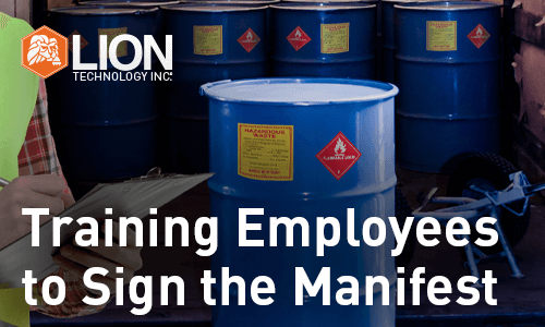 Training Employees to Sign the Manifest