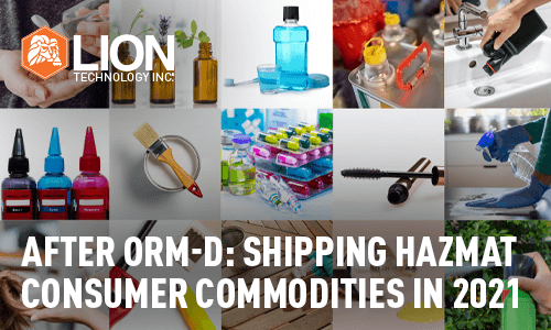 After ORM-D: Shipping Consumer Commodities in 2021