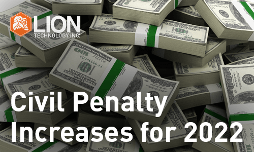 Civil Penalty Increases For 2021