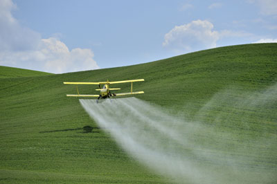 Aerial application of FIFRA-regulated pesticides