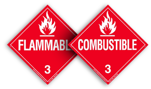 Flammable vs. Combustible Placards