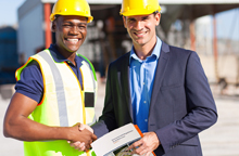 Site Inspector with Employee