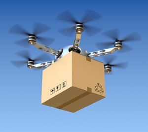 Drone or UAS carrying cargo